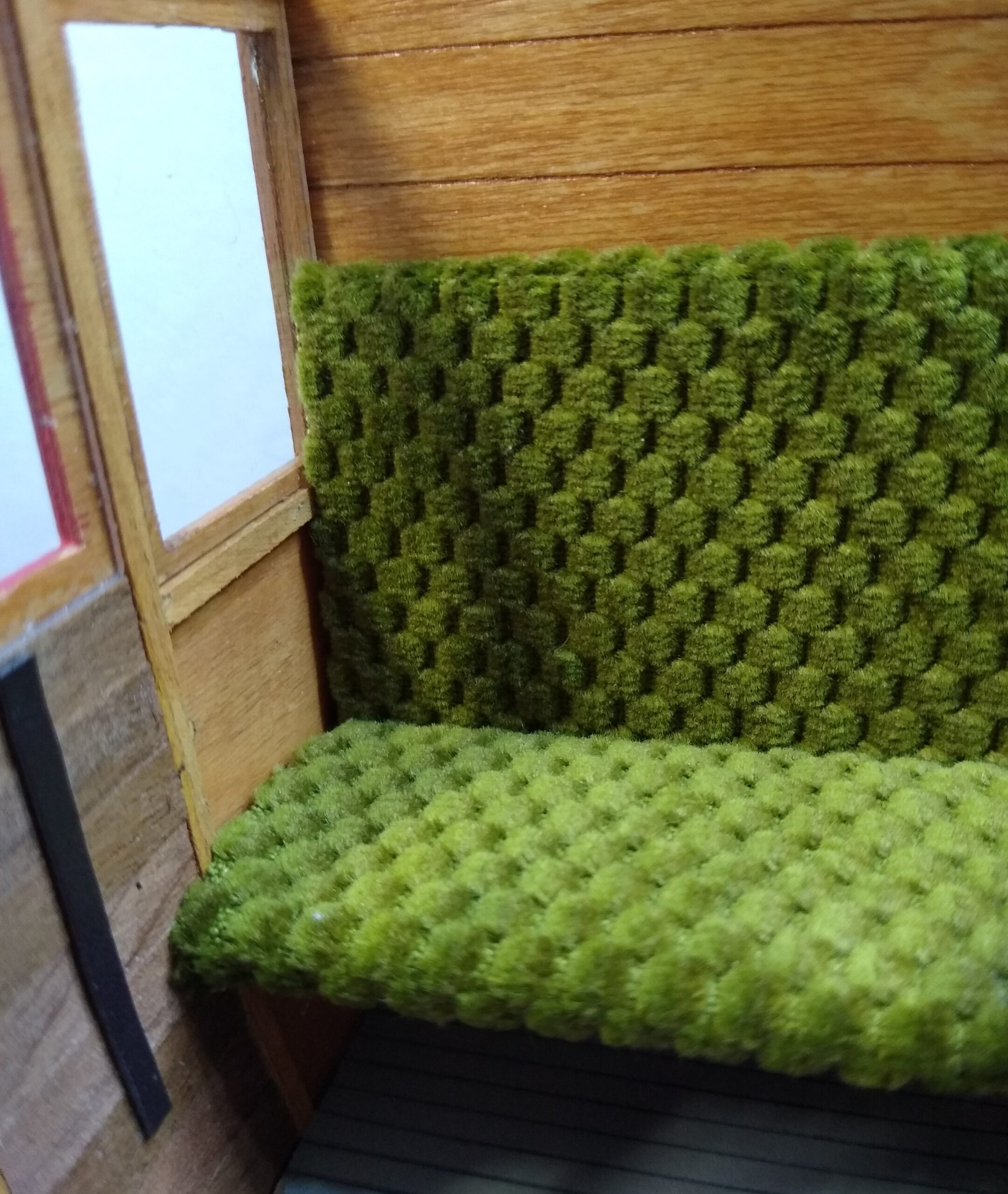 Builders Yard End of the Line Sale Green textured fabric 1