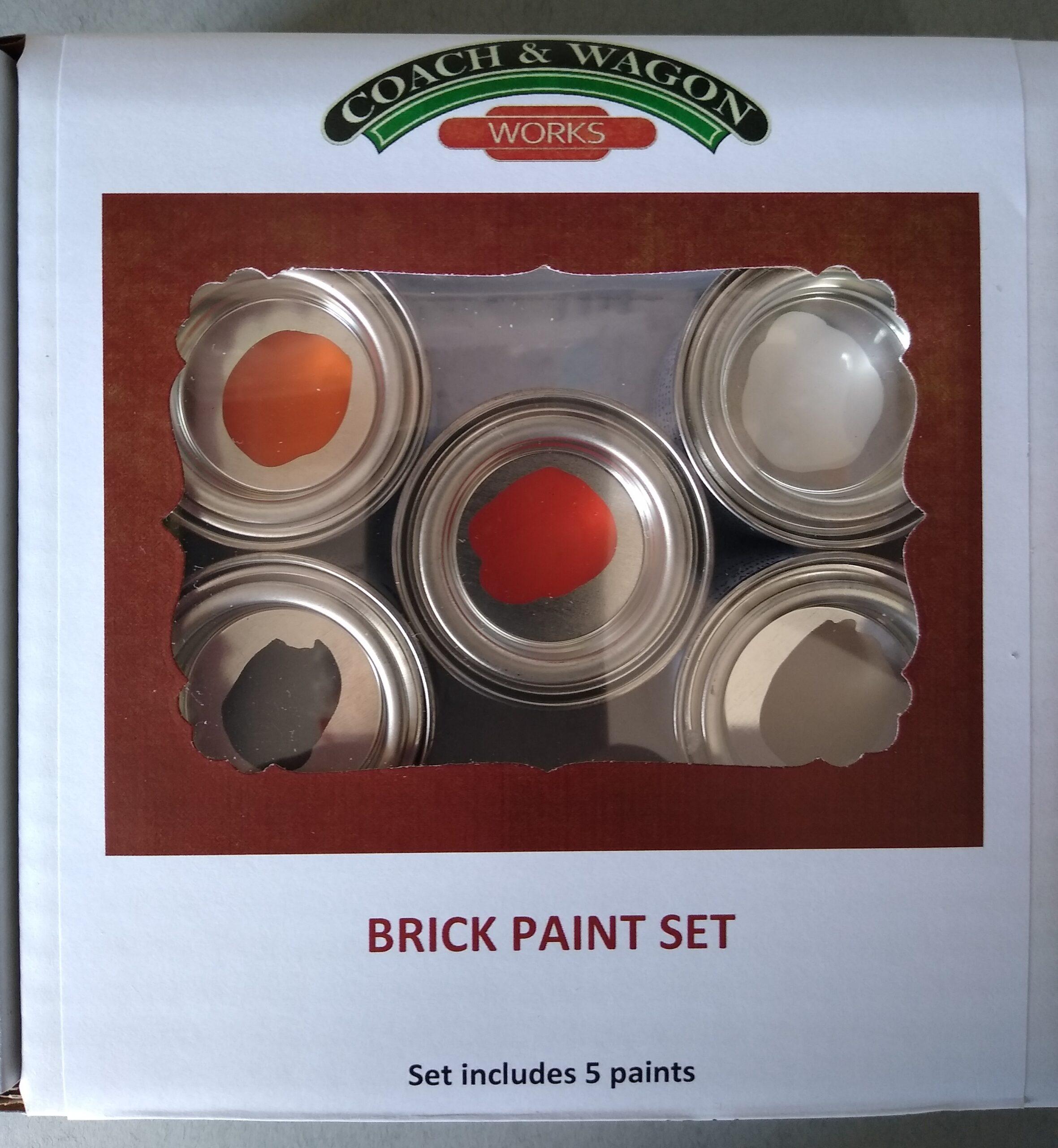 Builders yard paint Box Brick paint set