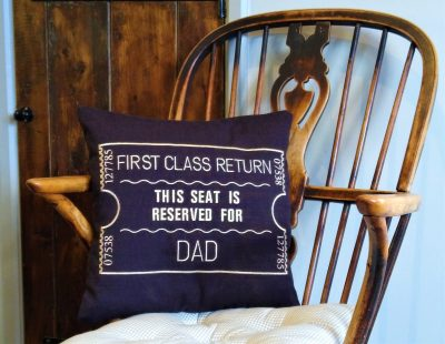 Black Dad scatter cushion