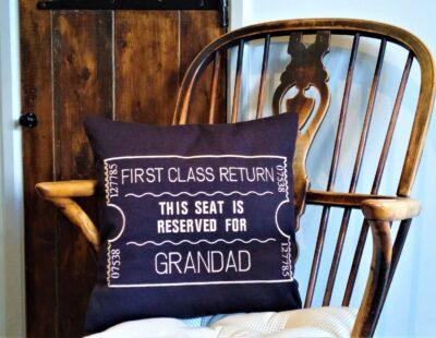Giftshop Black Grandad scatter cushion