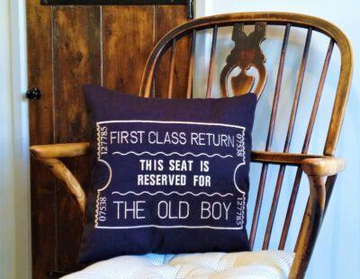 Giftshop Black Old boy scatter cushion