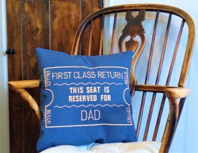 Giftshop Blue Dad scatter cushion