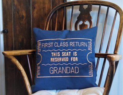 Giftshop Blue Grandad scatter cushion