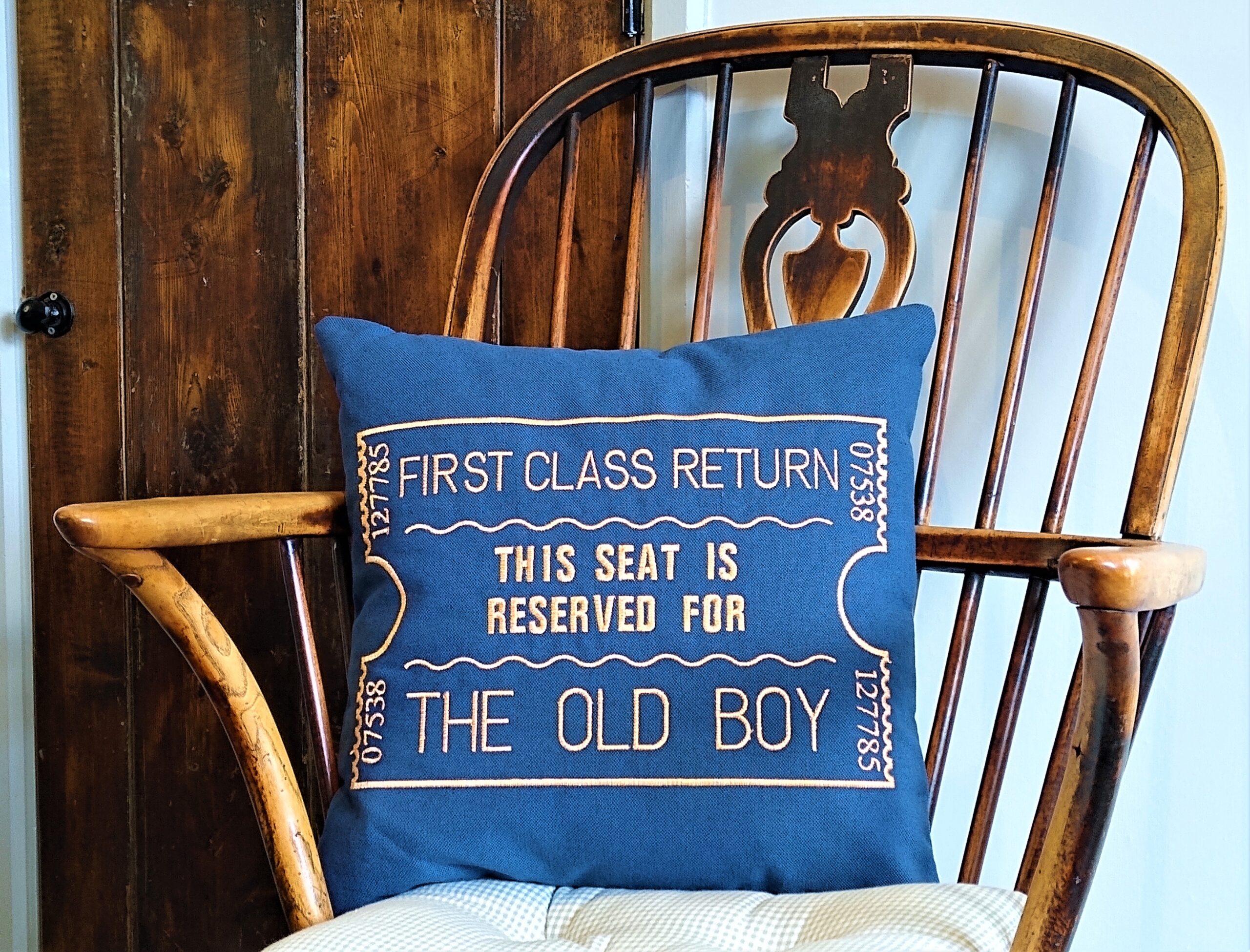 Giftshop Blue Old boy scatter cushion