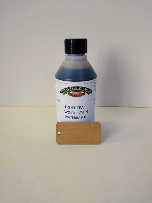 Builders yard glues varnishes sealers and stains Light Teak
