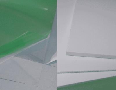 Plastic PETG and Foamex Board