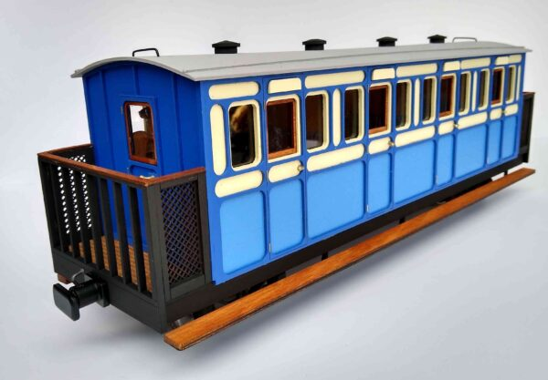 Rolling Stock First Class Freelance Balcony Bogie Coach showing end detail